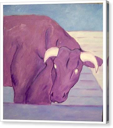 My Purple Cow Canvas Print by Sue Prideaux