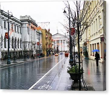 My Rainy City Canvas Print