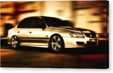 Canvas Print featuring the digital art My Ride 001 by Kevin Chippindall