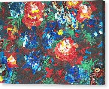 Canvas Print featuring the painting My Sister's Garden II by Alys Caviness-Gober