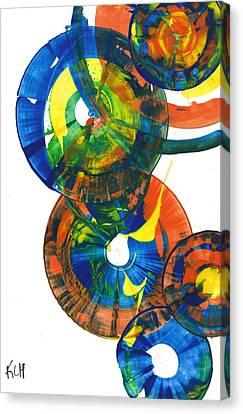 My Spherical Joy '' Jump Up ''  858.121711 Canvas Print by Kris Haas