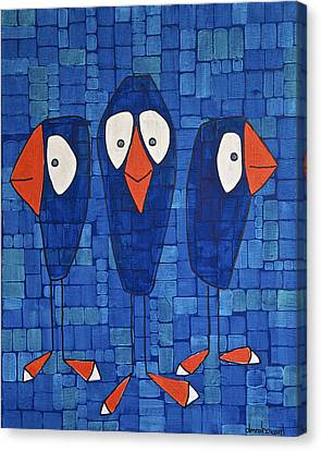 My Three Birds Canvas Print