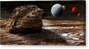 My View From Mars 2 Canvas Print by Kaye Menner