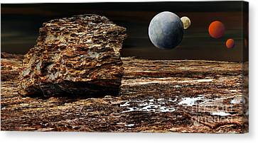 My Space Canvas Print - My View From Mars by Kaye Menner