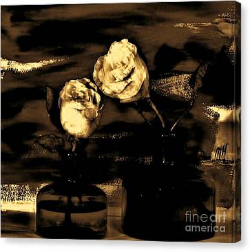 My Vintage Rose Picture Canvas Print