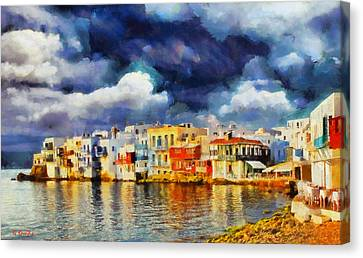 Myconos Clasic Canvas Print by George Rossidis