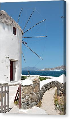 Mykonos Canvas Print by Laura Melis