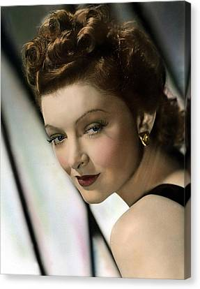 Myrna Loy, Mgm, 1940s Canvas Print by Everett