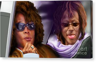 Myself And I - Whitney Canvas Print by Reggie Duffie