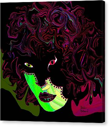 Mysterious Masquerade Canvas Print by Natalie Holland
