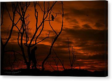 Mysterious Sunset Canvas Print - Mysterious Stranger by Lourry Legarde