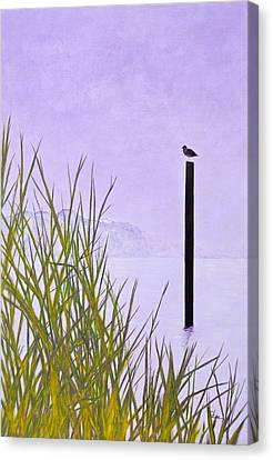 Canvas Print featuring the painting Mystic Haze A by Cindy Lee Longhini