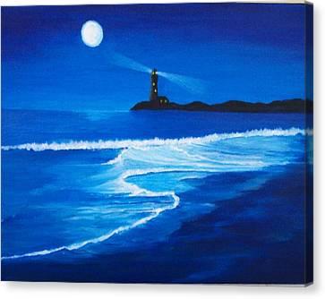 Mystic Shore Canvas Print by Linda Bennett