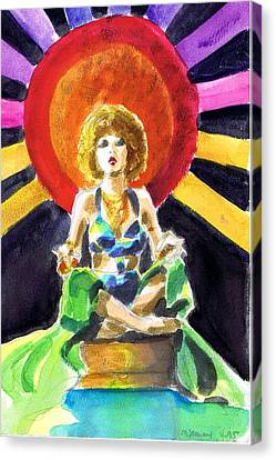 Sun Rays Canvas Print - Mystic Vamp by Mel Thompson