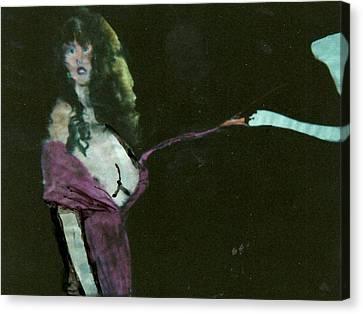 Leda Canvas Print - Myth Contemporary Leda Swan  by Harry WEISBURD