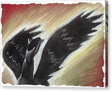 Myth Takes Flight Canvas Print by Mark Schutter