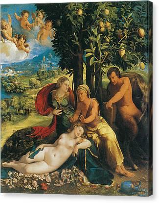 Mythological Scene Canvas Print by Dosso Dossi