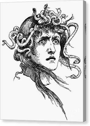 Mythology: Medusa Canvas Print by Granger