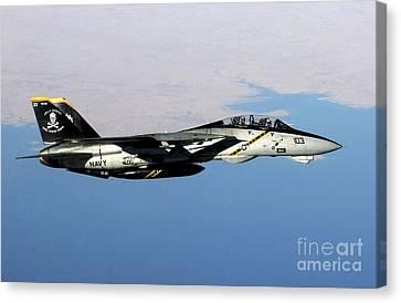 Operation Iraqi Freedom Canvas Print - N F-14b Tomcat Flies Over Iraq by Stocktrek Images