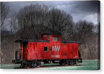 N W Caboose Canvas Print by Todd Hostetter