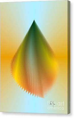 Canvas Print featuring the digital art N5 by Leo Symon