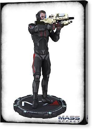 N7 Soldier V1 Canvas Print by Frederico Borges