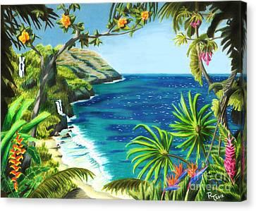 Tropical Sunset Canvas Print - Na Pali by Robert Thornton