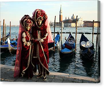 Canvas Print featuring the photograph Nadine And Daniel Across San Giorgio by Donna Corless