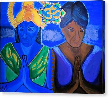 Namaste-we Are One Canvas Print by Lisa Brandel