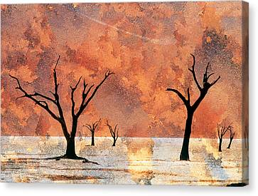 Nambia Desert Trees Canvas Print by Darwin Wiggett