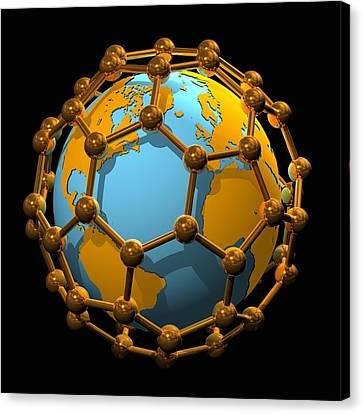 Nanotechnology, Conceptual Artwork Canvas Print