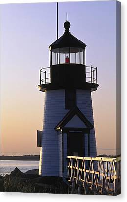 Nantucket Brant Point Lighthouse Canvas Print by Axiom Photographic