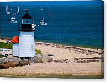 Nantucket Light Canvas Print by Mike Horvath