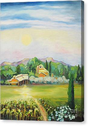 Napa Moon Canvas Print by Barbara Anna Knauf