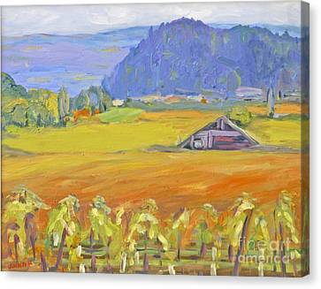 Napa Valley Mountains Canvas Print by Barbara Anna Knauf