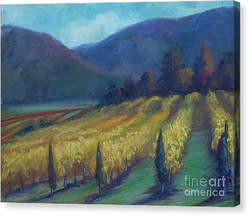 Napa Valley View From The Castle Canvas Print by Deirdre Shibano