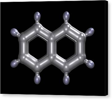 Naphthalene Molecule Canvas Print by Dr Mark J. Winter