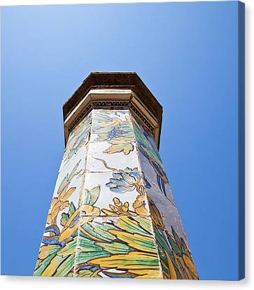 Napoli - Column In The Sky Canvas Print by Paolo Modena