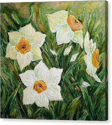 Narcissus In Bloom Canvas Print