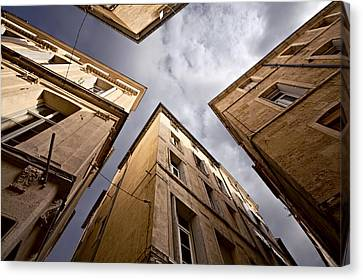 Narrow Streets Of Montpellier Canvas Print by Evgeny Prokofyev