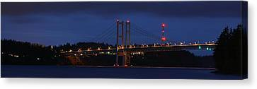 Narrows Bridges At Dusk Canvas Print by Rob Green