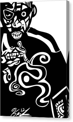 Nas  Up In Smoke Canvas Print by Kamoni Khem