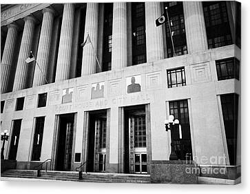 Nashville City Hall Davidson County Public Building And Court House Tennessee Usa Canvas Print by Joe Fox
