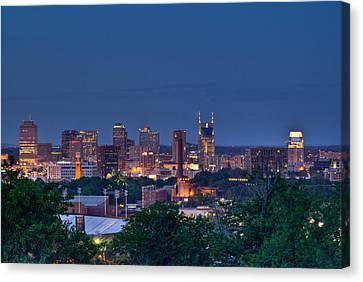 Nashville Cityscape 7 Canvas Print by Douglas Barnett