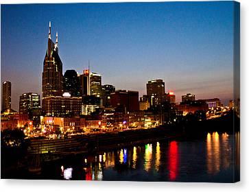 Nashville Skyline Canvas Print by Elizabeth Wilson