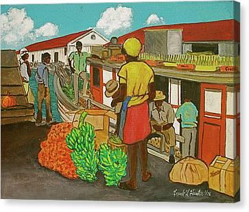 Nassau Fruit Boat Canvas Print by Frank Hunter
