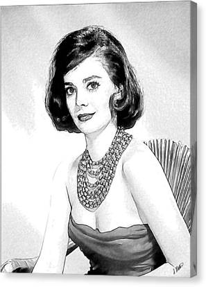Natalie Wood 05 Canvas Print by Dean Wittle