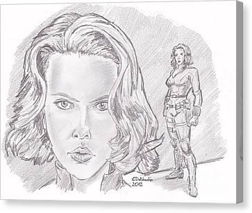Natasha Romanova- Black Widow Canvas Print by Chris  DelVecchio