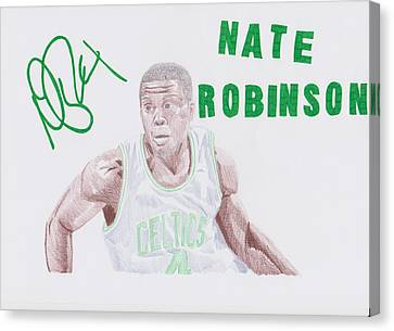 Nate Robinson Canvas Print by Toni Jaso