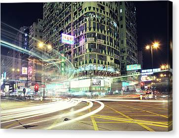 Long Street Canvas Print - Nathan Road by Thank you for choosing my work.